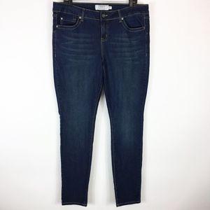 Torrid Jeans 16 R Skinny Dark Wash Stretch